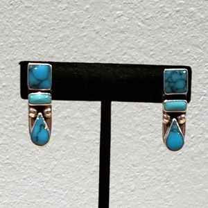 Jewelry - Southwest Sterling Silver and Turquoise Earrings